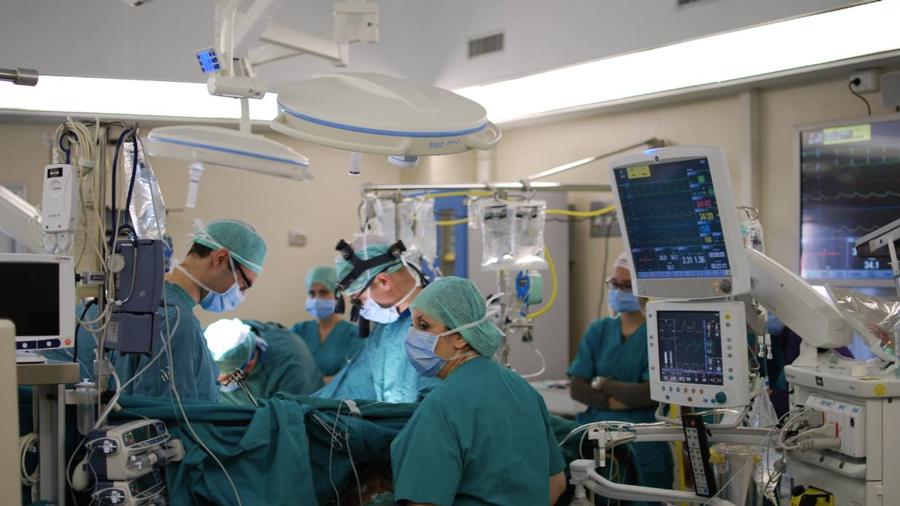 Surgeons in theatre