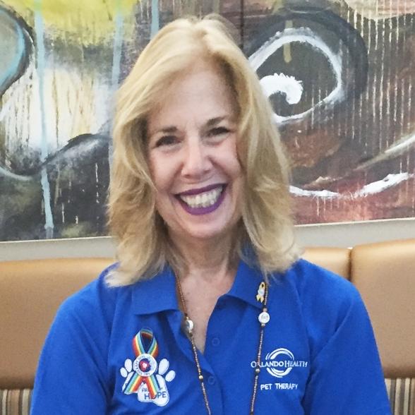 Adele Simons, Pet Therapy Volunteer
