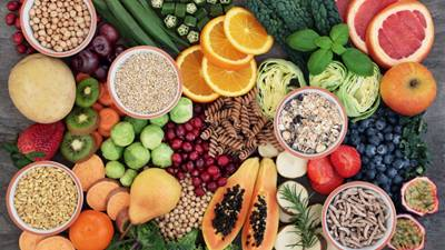 A spread of many fruits and vegetables you can incorporate into to your diet.