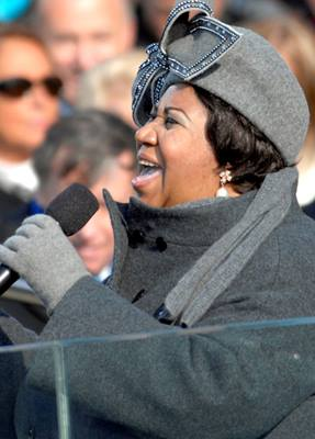 Aretha Franklin at Barack Obama Inauguration