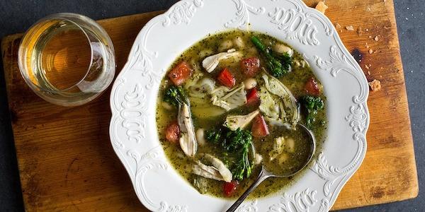 Recipe: Pesto Chicken and Cannellini Bean Soup