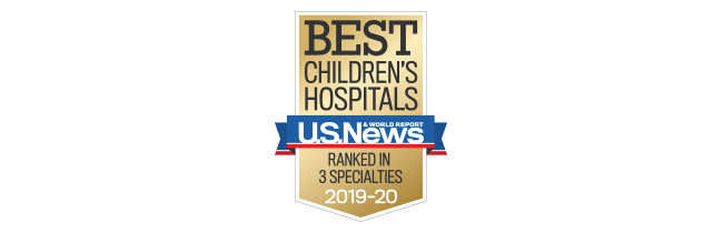 Ranked Best Childrens Hospital in 201920 by US News  World Report in 3 specialties