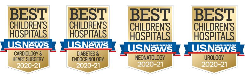 Ranked Best Childrens Hospital in 202021 by US News World Report in 4 specialties