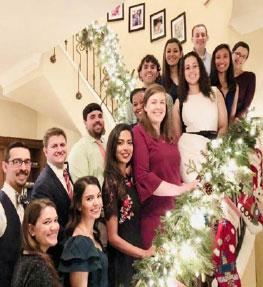 Pediatric Residents at holiday party