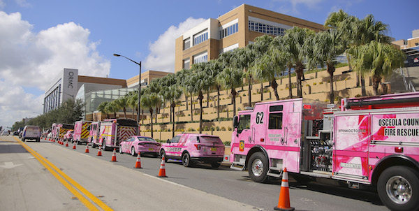 Pink Public Safety Vehicles Parade Kicks  Off Breast Cancer Awareness Month