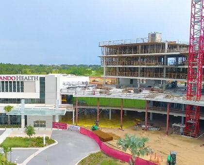 Orlando Health Horizon West Hospital Construction Time-Lapse