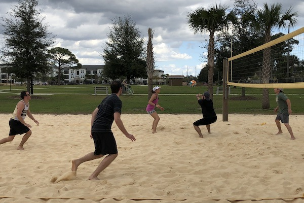 2 - Volleyball action