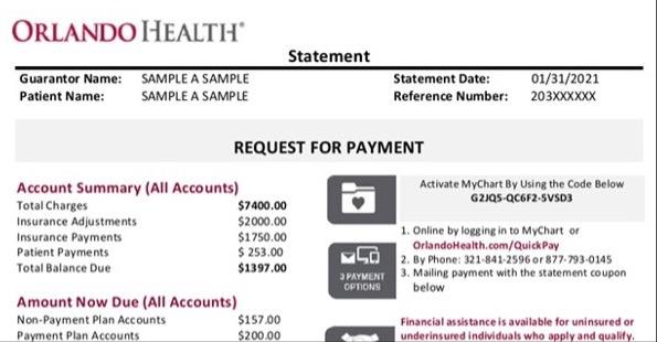 Online Bill Pay:RFP Bill Sample