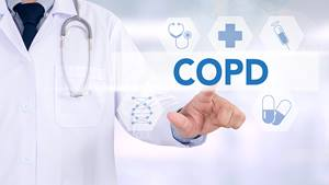 Doctor explaining COPD