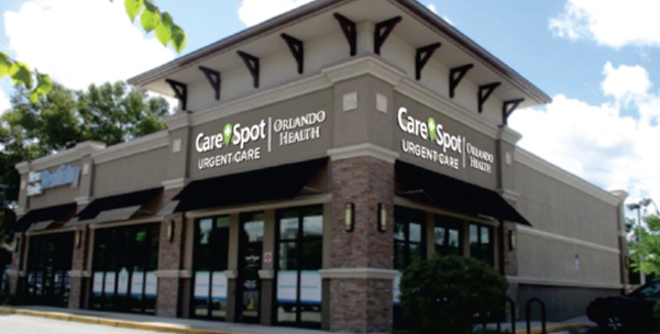 CareSpot Urgent Care Orlando Health facility.