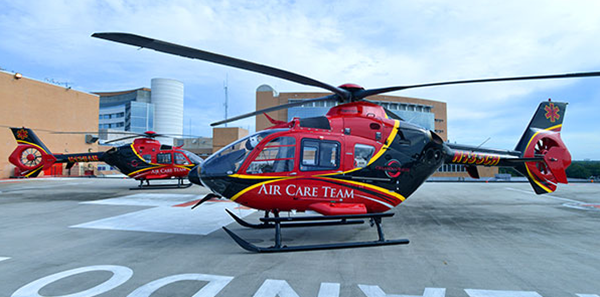An Orlando Health Air Care Team helicopter.
